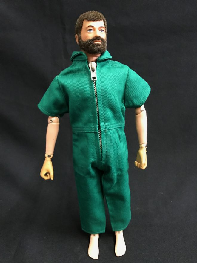 ELITE BRIGADE - AT Style Jumpsuit Short Sleeve Forest Green to fit Action Man/Gi Joe Adventure Team etc